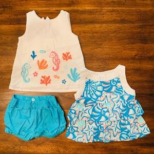 Gymboree Seashore Collection 2 of 5 Shorts Set 2T